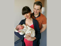 Baby Molly With Parents