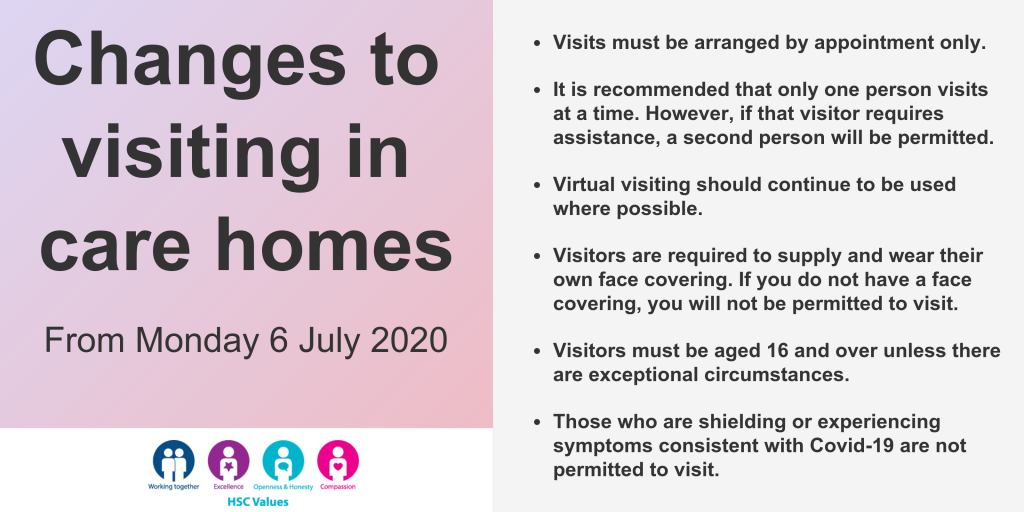 Changes to visiting care homes
