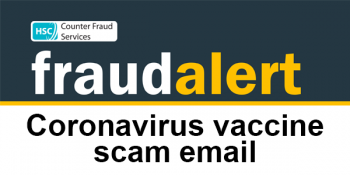 Fraud alter - vaccine scam email